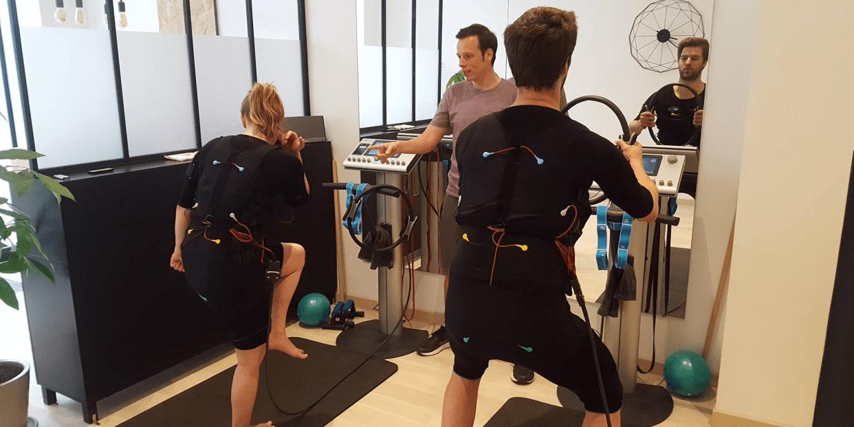 Seance D Electrostimulation At Sport Impulse Paris Saint Lazare